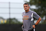 05 September 2015: Iona head coach Fernando Barboto. The Duke University Blue Devils hosted the Iona University Gaels at Koskinen Stadium in Durham, NC in a 2015 NCAA Division I Men's Soccer match. Duke won the game 2-1.