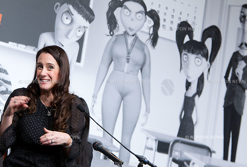 """December 3, 2012, Tokyo, Japan - Producer Allison Abbate attends a press conference for the film, """"Frankenweenie."""" The film will be released in Japan movie theaters on December 15. (Photo by Christopher Jue/Nippon News)"""
