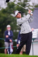 Brianna Do (USA) watches her tee shot on 1 during Friday's second round of the 72nd U.S. Women's Open Championship, at Trump National Golf Club, Bedminster, New Jersey. 7/14/2017.<br /> Picture: Golffile | Ken Murray<br /> <br /> <br /> All photo usage must carry mandatory copyright credit (&copy; Golffile | Ken Murray)