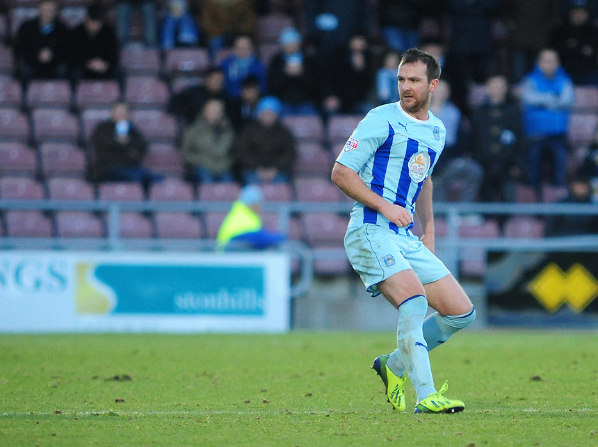 Coventry City's Andy Webster <br /> <br /> Photo by Chris Vaughan/CameraSport<br /> <br /> Football - The Football League Sky Bet League One - Coventry City v Oldham Athletic - Sunday 29th December 2013 - Sixfields Stadium - Northampton<br /> <br /> &copy; CameraSport - 43 Linden Ave. Countesthorpe. Leicester. England. LE8 5PG - Tel: +44 (0) 116 277 4147 - admin@camerasport.com - www.camerasport.com