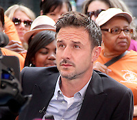 NEW YORK CITY, NY: July 23, 2012 David Arquette at Good Morning America to talk about new Travel Channel TV show Mile High and his work with @EcoMom a initiative to feed hungry children in New York City. &copy; RW/MediaPunch Inc. /NortePhoto.com*<br />