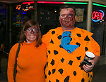 Heidi and Chris during the Zombie Crawl held on Saturday night, October 26, 2019 in downtown Reno.