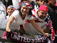 July 24, 2005: East Rutherford, NJ, USA:  Fans show their support for the USMNT during the CONCACAF Gold Cup Finals at Giants Stadium.  The USMNT won 3-1 on penalty kicks.
