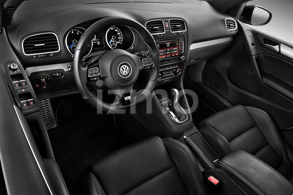 High angle dashboard view of a 2011 Volkswagen Golf R 5 Door Hatchback Stock Photo