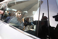NAPOLI EZEQUIEL LAVZZI VIENE SENTITO COME TESTE DURANTE  UN  PROCESSO PER RICICLAGGIO .NELLA FOTO LAVEZZI ALL'USCITA DEL PALAZZO DI GIUSTIZIA ..FOTO CIRO DE LUCA
