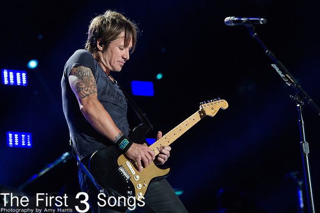 Keith Urban performs at LP Field during Day Three of the 2014 CMA Music Festival in Nashville, Tennessee.