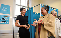 10 January 2019 - London, England - Lady Juliet Hughes Hallett, chair of Smart Works and Meghan Markle Duchess of Sussex  Patsy Wardally visits Smart Works Charity in London. Photo Credit: ALPR/AdMedia