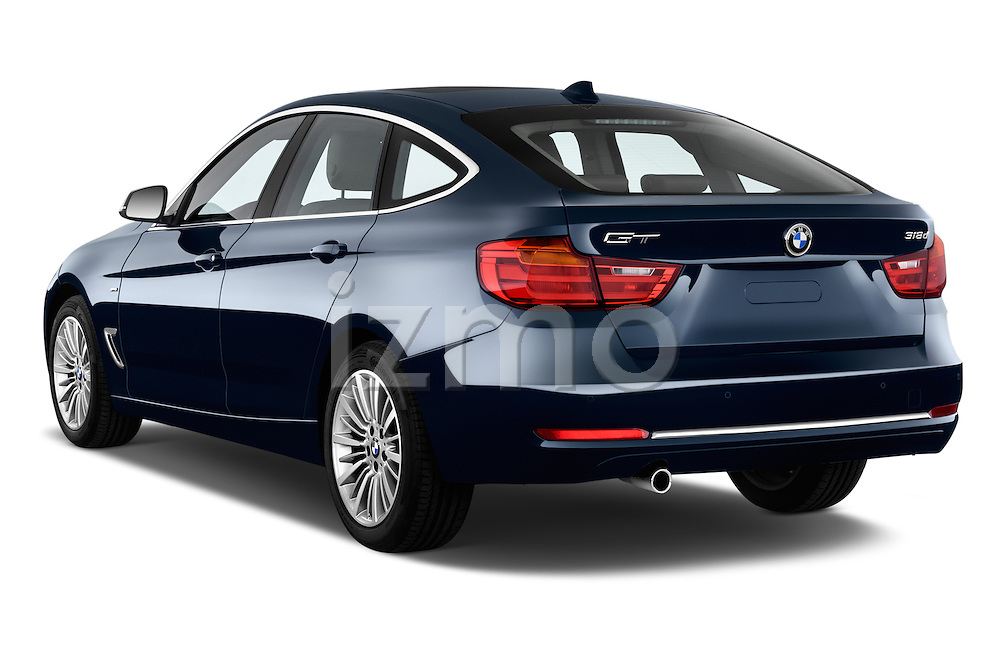 Rear three quarter view of a 2013 Bmw SERIES 3 Luxury 5 Door Hatchback 2WD