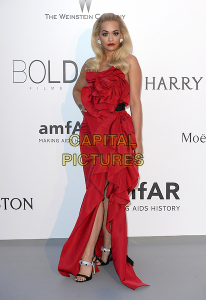 Rita Ora (wearing Marchesa) - arrivals at amfAR&rsquo;s Cinema Agains Aids Gala at Hotel du Cap, Antibes during the Cannes Film Festival on May 21, 2015 in Cap d'Antibes, France.<br /> CAP/CAS<br /> &copy;Bob Cass/Capital Pictures