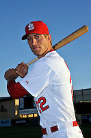 Mar 01, 2010; Jupiter, FL, USA; St. Louis Cardinals outfielder Joe Mather (22) during  photoday at Roger Dean Stadium. Mandatory Credit: Tomasso De Rosa/ Four Seam Images