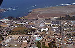 Aerial views of Fort Bragg on the Mendocino Coast