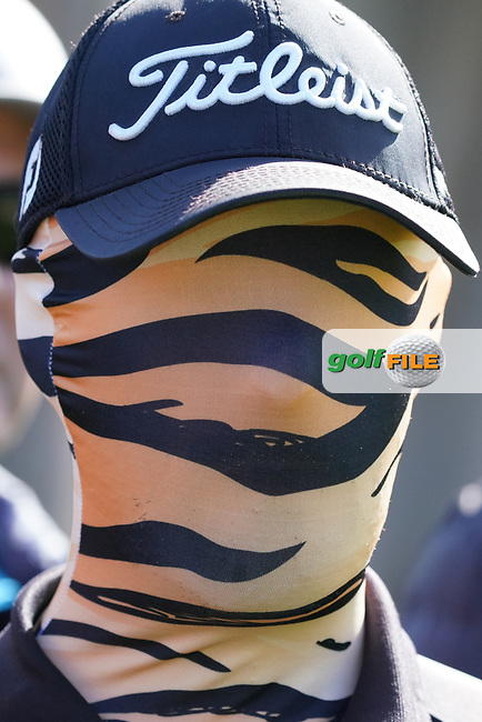 Tiger Woods fan during the 1st round of The Genesis Invitational, Riviera Country Club, Pacific Palisades, Los Angeles, USA. 12/02/2020<br /> Picture: Golffile | Phil Inglis<br /> <br /> <br /> All photo usage must carry mandatory copyright credit (© Golffile | Phil Inglis)