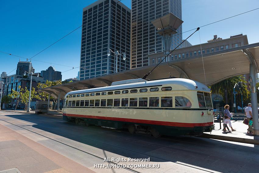 San Francisco futuristic tram, California