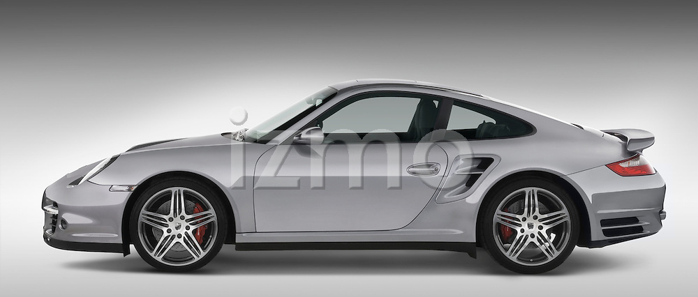 Profile Side View Of A 2007 Porsche 911 turbo coupe