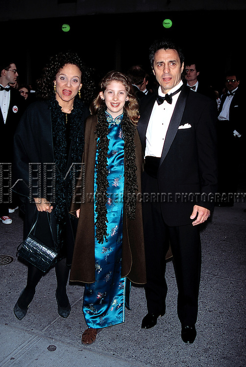 Valerie Harper with her husband and daughter.Attending the Broadway opening of BIG at the Shubert Theatre in New York City..April 28, 1996.