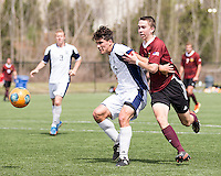 The Winthrop University Eagles played the UNC Wilmington Seahawks in The Manchester Cup on April 5, 2014.  The Seahawks won 1-0.  Jacob VanCompernolle (6), James Skonicki (23)