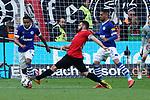 11.05.2019, BayArena, Leverkusen, GER, 1. FBL, Bayer 04 Leverkusen vs. FC Schalke 04 ,<br />  <br /> DFL regulations prohibit any use of photographs as image sequences and/or quasi-video<br /> <br /> im Bild / picture shows: <br /> Torchance fuer Kevin Volland (Leverkusen #31), <br /> <br /> Foto &copy; nordphoto / Meuter