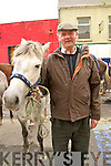 No Takers: William Riordan, Purt, Abbeyfeale  attending Listowel horse fair on Thursday last.