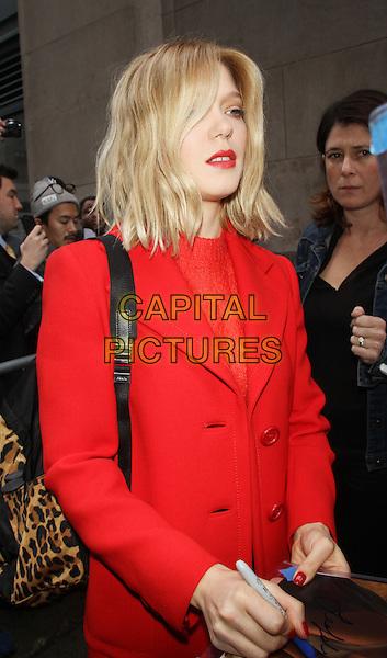 NEW YORK, NY - NOVEMBER 5: Lea Seydoux at AOL Build to talk about the latest 007 movie Spectre in New York City on November 5, 2015. <br /> CAP/MPI/RW<br /> &copy;RW/MPI/Capital Pictures