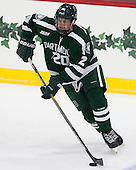 Carl Hesler (Dartmouth - 20) - The Harvard University Crimson tied the visiting Dartmouth College Big Green 3-3 in both team's first game of the season on Saturday, November 1, 2014, at Bright-Landry Hockey Center in Cambridge, Massachusetts.