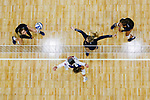 PENSACOLA, FL - DECEMBER 09: Brooklyn Lewis (3) of Concordia University, St. Paul, left, watches a bump attempt during the Division II Women's Volleyball Championship held at UWF Field House on December 9, 2017 in Pensacola, Florida. (Photo by Timothy Nwachukwu/NCAA Photos via Getty Images)