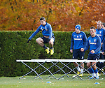 Fraser Aird first over the hurdles at training
