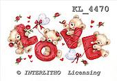Interlitho, VALENTINE, VALENTIN, paintings+++++,4 bears,roses,balloons,KL4470,#v# stickers ,everyday