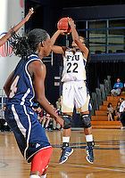 Florida International University guard Jerica Coley (22) plays against Florida Atlantic University which won the game 50-49 on January 21, 2012 at Miami, Florida. .