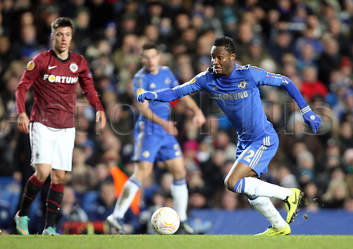 21.02.2013. London, England. John Obi Mikel of Chelsea during the UEFA Europa League, Round of 32,  2nd Leg game between Chelsea and Sparta Prague from Stamford Bridge Stadium......