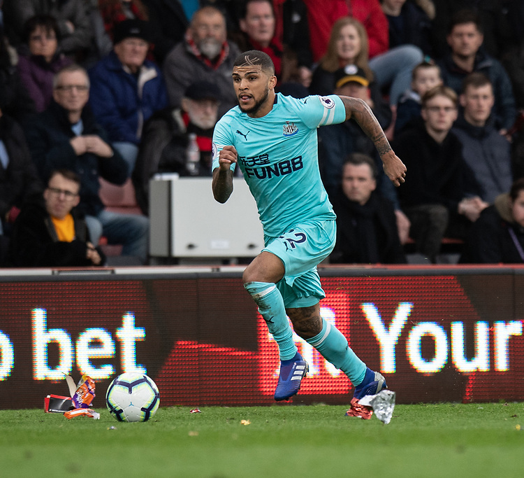 Newcastle United's DeAndre Yedlin <br /> <br /> Photographer David Horton/CameraSport<br /> <br /> The Premier League - Bournemouth v Newcastle United - Saturday 16th March 2019 - Vitality Stadium - Bournemouth<br /> <br /> World Copyright © 2019 CameraSport. All rights reserved. 43 Linden Ave. Countesthorpe. Leicester. England. LE8 5PG - Tel: +44 (0) 116 277 4147 - admin@camerasport.com - www.camerasport.com