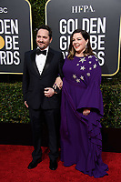 Golden Globe nominee Melissa McCarthy and Ben Falcone attend the 76th Annual Golden Globe Awards at the Beverly Hilton in Beverly Hills, CA on Sunday, January 6, 2019.<br /> *Editorial Use Only*<br /> CAP/PLF/HFPA<br /> Image supplied by Capital Pictures