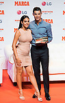 Cristiano Ronaldo and his girlfriend Giorgina Rodriguez during the ceremony of 'Marca Leyenda' Award in Madrid. July 29, 2019. (ALTERPHOTOS/Francis González)