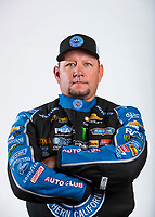 Feb 5, 2020; Pomona, CA, USA; NHRA funny car driver Robert Hight poses for a portrait during NHRA Media Day at the Pomona Fairplex. Mandatory Credit: Mark J. Rebilas-USA TODAY Sports