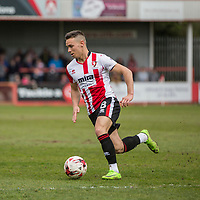 Billy Waters of Cheltenham Town during the Sky Bet League 2 match between Cheltenham Town and Grimsby Town at the The LCI Rail Stadium,  Cheltenham, England on 17 April 2017. Photo by PRiME Media Images / Mark Hawkins.