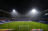 Snow falls over the University of Bolton Stadium  <br /> <br /> Photographer Andrew Kearns/CameraSport<br /> <br /> The EFL Sky Bet Championship - Bolton Wanderers v Reading - Tuesday 29th January 2019 - University of Bolton Stadium - Bolton<br /> <br /> World Copyright © 2019 CameraSport. All rights reserved. 43 Linden Ave. Countesthorpe. Leicester. England. LE8 5PG - Tel: +44 (0) 116 277 4147 - admin@camerasport.com - www.camerasport.com
