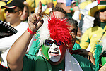 11 JUN 2010: Mexico fan. The South Africa National Team tied the Mexico National Team 1-1 at Soccer City Stadium in Johannesburg, South Africa in the opening match of the 2010 FIFA World Cup.