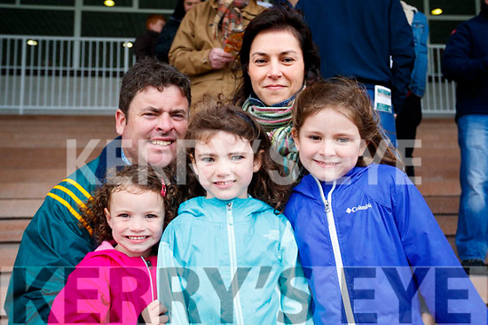 Ava, Pat, Helena, Kate and Claire Donovan, Ballylongford and Chicago, pictured at the Listowel Races on Sunday last.