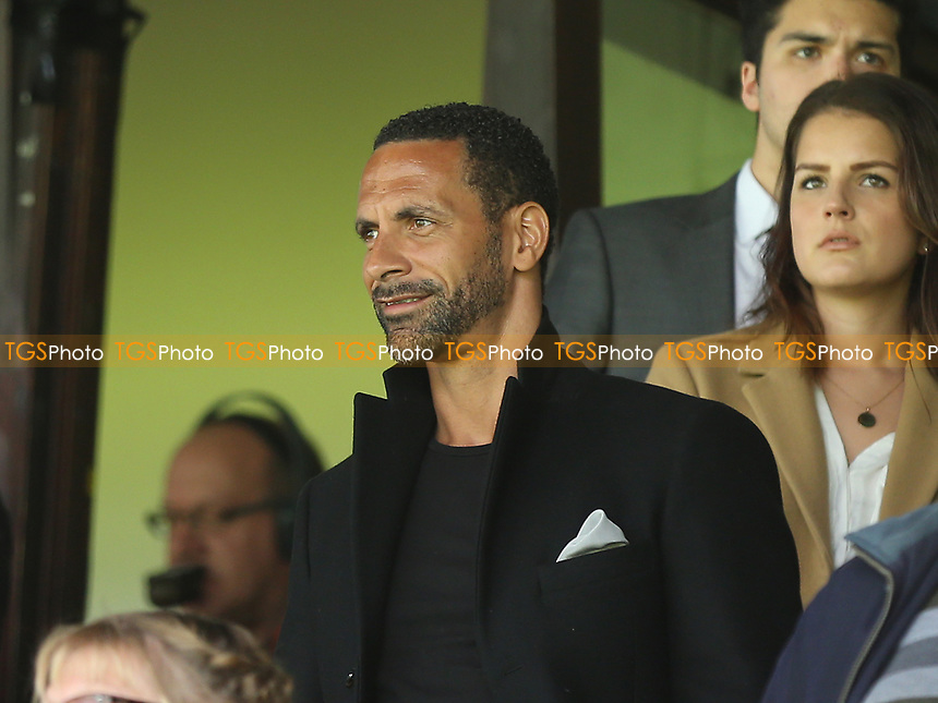 Rio Ferdinand was watching from the Stand during Southend United vs MK Dons, Sky Bet EFL League 1 Football at Roots Hall on 17th April 201