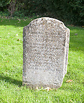 Headstone grave of Hannah Twynnoy killed by a tiger in 1703, Malmesbury, Wiltshire, England, UK