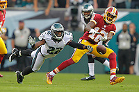 Brandon Boykin during a game against the Washington Redskins at Lincoln Financial Field on September 21, 2014 in Philadelphia, Pennsylvania. The Eagles won 37-34. (Photo by Hunter Martin/Philadelphia Eagles