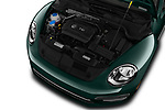 Car Stock 2017 Volkswagen Beetle S 2 Door Convertible Engine  high angle detail view