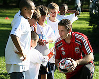 "Troy Prrkins during a  D.C United clinic in support of first lady Michelle Obama's ""Let's Move"" initiative on the White House lawn, in Washington D.C. on October 7 2010."