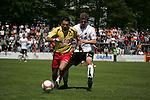Sandhausen 03.05.2008, Patrick Ghigani (SC Pfullendorf) und Christian Beisel (SV Sandhausen) beim Spiel in der Regionalliga SV Sandhausen - SC Pfullendorf<br /> <br /> Foto &copy; Rhein-Neckar-Picture *** Foto ist honorarpflichtig! *** Auf Anfrage in h&ouml;herer Qualit&auml;t/Aufl&ouml;sung. Belegexemplar erbeten.