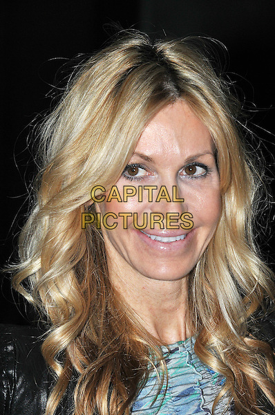 Melissa Odabash.Rodial Beautiful Awards, Sanderson Hotel, London, England..March 6th, 2012.headshot portrait black blue print.CAP/BF.©Bob Fidgeon/Capital Pictures.