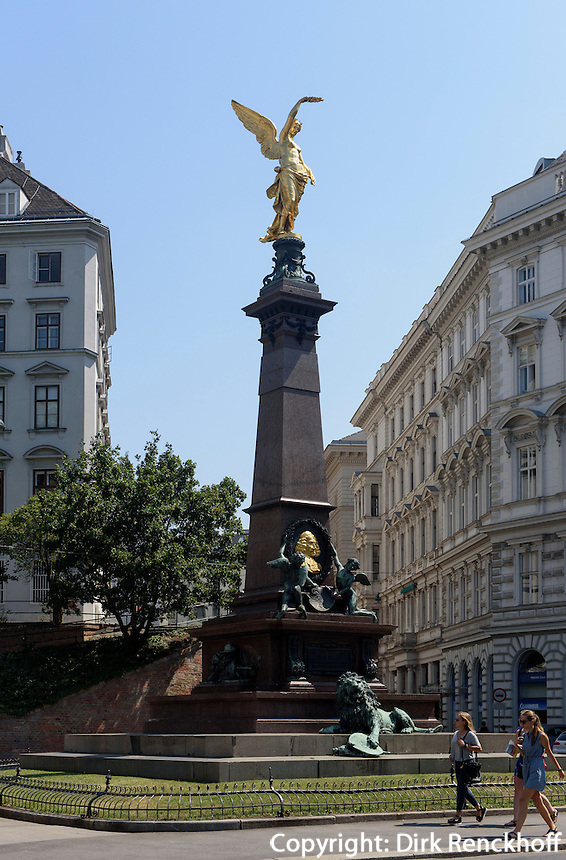 Denkmal B&uuml;rgermeister Andreas von Liebenberg bei der M&ouml;lker-Bastei, Wien, &Ouml;sterreich, UNESCO-Weltkulturerbe<br /> Monument of mayor Andres von Liebenberg near M&ouml;lker-Bastion, Vienna, Austria, world heritage