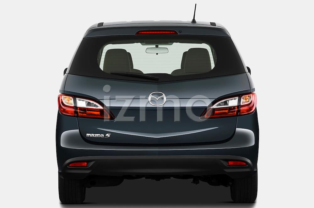 Straight rear view of a 2012 Mazda Mazda5