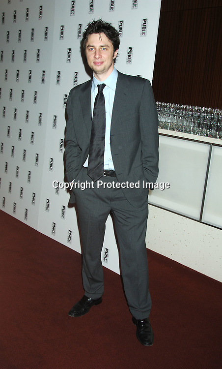 Zach Braff ..at the Public Theatre's 50th Anniversary celebration on ..January 30, 2006 at The Time Warner Center. ..Photo by Robin Platzer, Twin Images