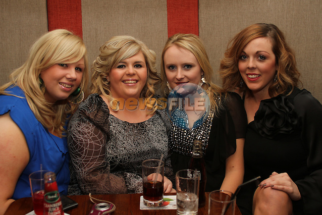 Kellie McEvoy with friends, Amy Cowley, Kate O'Sullivan and Anne Hodgers celebrating her birthday in Hogs and Heiffers...(Photo credit should read Jenny Matthews www.newsfile.ie)....This Picture has been sent you under the conditions enclosed by:.Newsfile Ltd..The Studio,.Millmount Abbey,.Drogheda,.Co Meath..Ireland..Tel: +353(0)41-9871240.Fax: +353(0)41-9871260.GSM: +353(0)86-2500958.email: pictures@newsfile.ie.www.newsfile.ie.