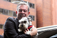 NEW YORK, NY - OCTOBER 8: Elvis Duran and pet dog, Max Duran at Build Series in New York City on October 8, 2019. <br /> CAP/MPI/EN<br /> ©EN/MPI/Capital Pictures