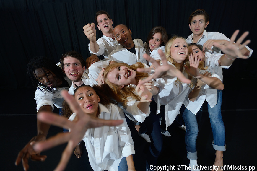 Publicity shots of Mississippi Dance Company.  Photo by Kevin Bain/Ole Miss Communications